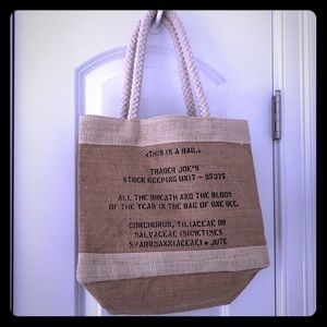 Handbags - Trader Joe's, used reusable burlap bag